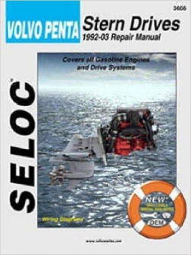 Book SL3606 Seloc Volvo Penta Stern Drive 1992-2002 Boat Engine Repair Manual