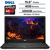 2018 Newest Dell Flagship Inspiron 15.6 IN HD Widescreen LED Laptop, AMD A6-9200 accelerated Processor, 4GB DDR4 SDRAM, 500GB HDD 5400RPM, AMD Radeon R4 Integrated Graphics, Win10, Webcam, DVD-RW