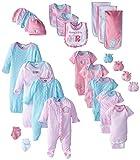 Gerber Baby-Girls Newborn Zebra 26 Piece Gift Bundle Gift Set, Zebra, 0-6  Months (Assorted)