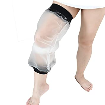 Knee Cast Cover for Shower, Waterproof TPU Shower Bandage and Cast  Protector for Knee
