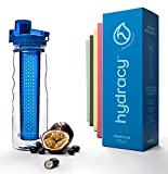 Hydracy Fruit Infuser Water Bottle - 25 Oz Sport Bottle with Full Length Infusion Rod and Insulating Sleeve Combo Set + 27 Fruit Infused Water Recipes eBook Gift - Azure BLUE