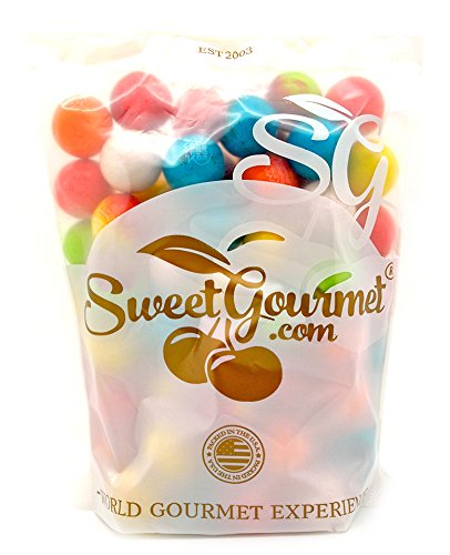 "- SweetGourmet Concord Dubble Bubble 1"" Lightning Bolts Sour Bulk Gumballs, 1.5Lb"