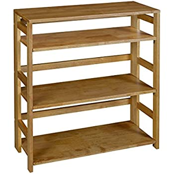 Regency Flip Flop 34 Inch High Folding Bookcase Medium Oak