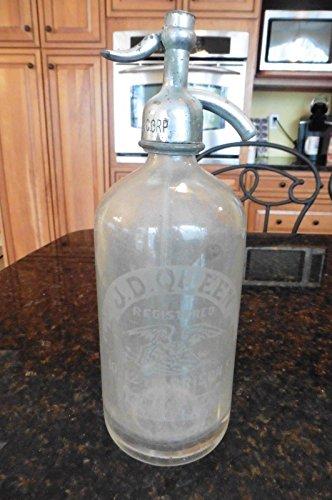 Vintage Glass Seltzer bottle JD Queen Mt Vernon Beverage Corp Worcester - Vintage Ebay Glasses