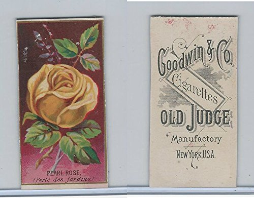 (N164 Goodwin Cigarettes, Flowers, 1890, Pearl Rose (Trim))