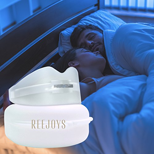 Mouth Guard For Grinding Teeth by Reejoys - Sleep Mouthpiece Night Bite Aid Guard Dental Stop Anti Whitening Tray Clenching Protector (Seconds Mouth Guard)