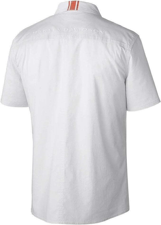 Harley Davidson - Camisa Casual - para Hombre Blanco Blanco XXL: Amazon.es: Ropa y accesorios