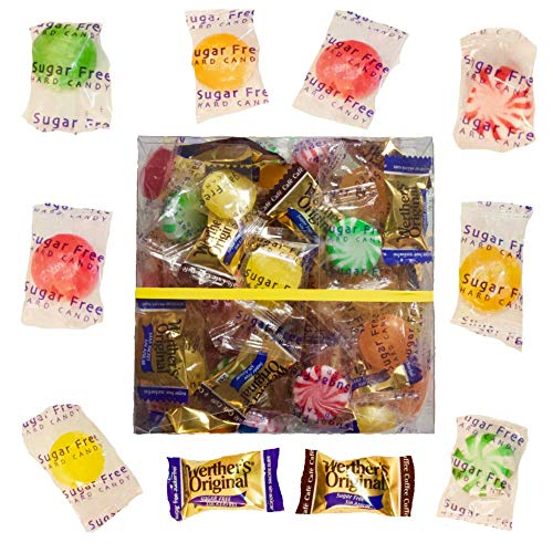 - Sugar Free Candy Gift of Hard Caramel, Lemon, Butterscotch, Spearmint, Peppermint & Fruit Flavors