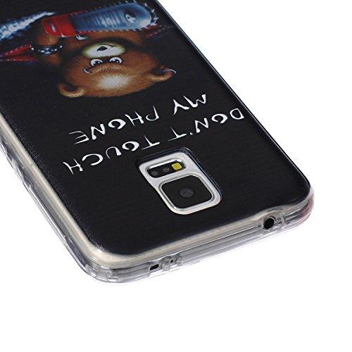 [Extremadamente Delgada] Funda 3D Silicona Transparent para Samsung Galaxy S5 ,Funda TPU Ultra Slim para Samsung Galaxy S5 , TOCASO Case Fina Slim Fit Cristal Clear, Transparent Slicona Clear Cover Gl Oso