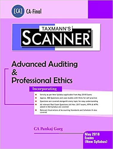 Scanner-Advanced Auditing & Professional Ethics (CA-Final)(May 2018 Exams-New Syllabus)