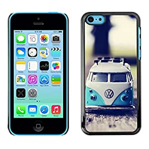 Impact Case Cover with Art Pattern Designs FOR iPhone 5Cs Hippie Bus 70'S Weed Culture Van Betty shop