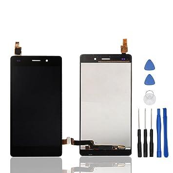 Ocolor Reparación y reemplazo para Huawei Ascend P8 Lite / ALE-L21,LCD Display + Digitizador de pantalla táctil con libre Herramientas (Negro)