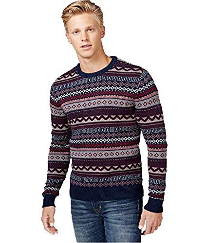 American Rag Mens Nordic Crew Neck Sweater  Red Zinger  X Large