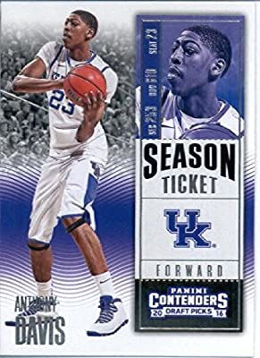 2016-17 Panini Contenders Draft Picks #6 Anthony Davis Kentucky Wildcats Basketball Card-MINT