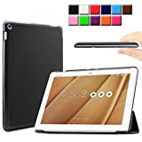 Infiland ASUS ZenPad 10 Shell Case - Ultra Slim Lightweight Stand Case Cover with Auto Sleep / Wake Feature For ASUS ZenPad Z300C / Z300CG / Z300CL 10.1-Inch Tablet (ASUS ZenPad 10, Black)