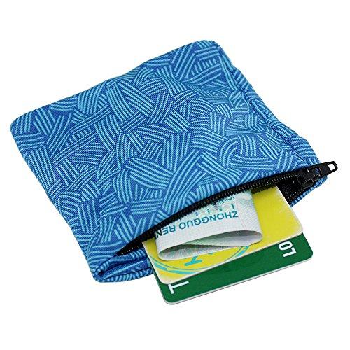boshiho Unisex Zippered Wristband Pouch Runner's Wrist Pocket Reversible Wrist Wallet (Light Blue) (Wrist Wallet Banjee)