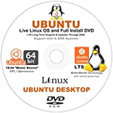 Ubuntu Linux 18.04 Desktop - 64-Bit Support - Live Linux OS and Full Install 64-Bit DVD - LATEST RELEASE - Long Term Support Until 2028
