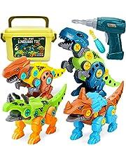 Dreamon Take Apart dinosaurus speelgoed voor kinderen met opbergdoos elektrische boor, doe-het-zelf bouwset educatieve STEM geschenken voor jongens meisjes