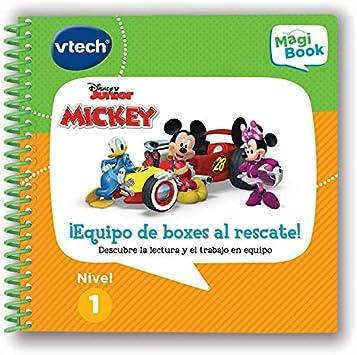 Oferta amazon: Vtech- Libro para Magibook Mickey al Rescate, aprende en casa, Trabajo en Equipo y relación Causa-Efecto con 8 Actividades y Cientos de interacciones, Nivel 1, 2-5 años (80-481722)