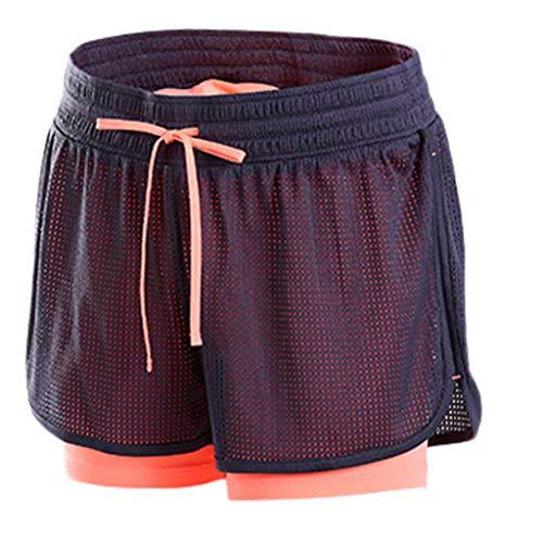Women's Sports Shorts,LuluZanm Sale Ladies Summer Anti Emptied Drawstring Fitness Body Short Pants Yoga Gym Pants Orange