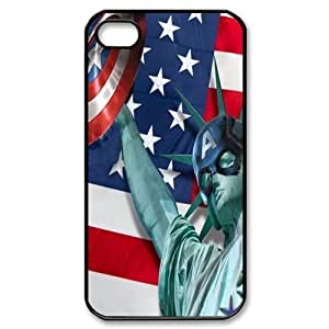 Performance Designed Products Captain America&The Statue of Liberty Custom Cases for Samsung Galaxy S5S (PC)