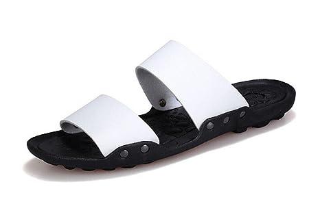Uomini pattini aperti ai piedi pantofole estive scarpe da spiaggia