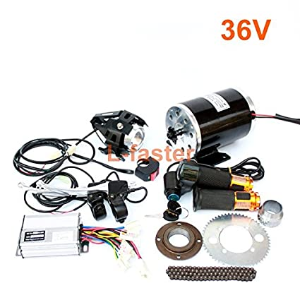 1000W moto electrica motor kit cambiando el gas ATV ATV 4 ...