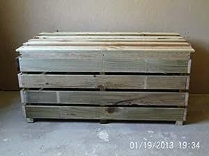 Wooden Log Boxes Store (100cm(L) x 60cm(L) x60cm(D))