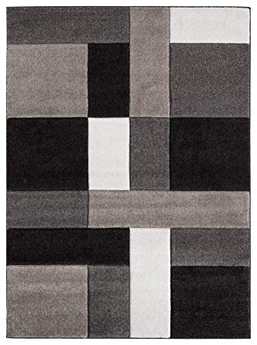 - Ibiza Collection Geometric Blocks Abstract Area Rug, 5' 2