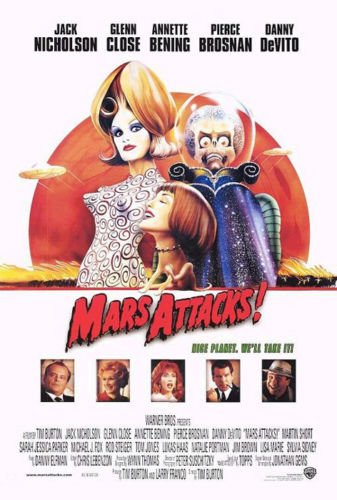 Twenty-three 24X36 Inch canvas poster Mars Attacks! - Movie Poster Spray Painting ()