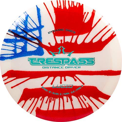 Dynamic Discs Lucid Trespass MyDye American Flag Disc Golf Discs | Maximum Distance Disc Golf Driver | 170g Plus | Stamp Colors Will Vary