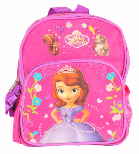 """Sofia the First Princess Toddler 10"""" Backpack and One Bonus Gift Set"""