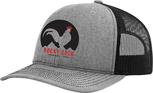 Rocky Cock Apparel Logo Trucker Snap Back (Grey / Black) ()