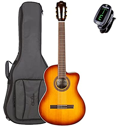 The Best Cordoba C5-ce Cutaway Acoustic Electric Classical Guitar Nylon Strings C5 Ce Musical Instruments & Gear