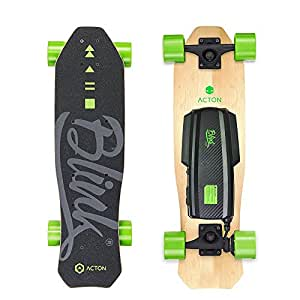 ACTON BLINK Lite V2   Memorial Day Sale   World's Lightest Electric Skateboard for Youth   With LED Lights   Up To 5 Mile Range   10 MPH Top Speed   Bluetooth Remote Control Included