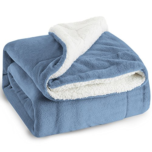 - Bedsure Sherpa Fleece Blanket Twin Size Carolina Blue Plush Blanket Fuzzy Soft Blanket Microfiber