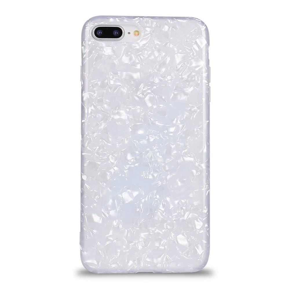 Homikon Silikon Hülle Shell-Muster TPU Handyhülle Transparente Glänzend Glitzer Kristall Strass Handytasche Durchsichtig Weiche Schutzhülle Cover Kompatibel mit iPhone 7 Plus/8 Plus - Farbe