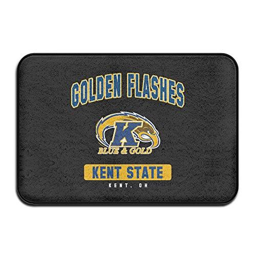 VDSEHT NCAA Kent State University KSU Kent State Golden Flashes Logo Non-slip Doormat (Kent State Basketball Rugs)
