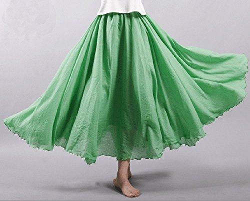 12 Boheme d't Longue Jupe Coton Maxi en Femme Jupe Couleurs CoutureBridal Blanc 7fqgwSz