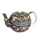 William Morris Strawberry Thief Teapot 6 Cup English Teapot
