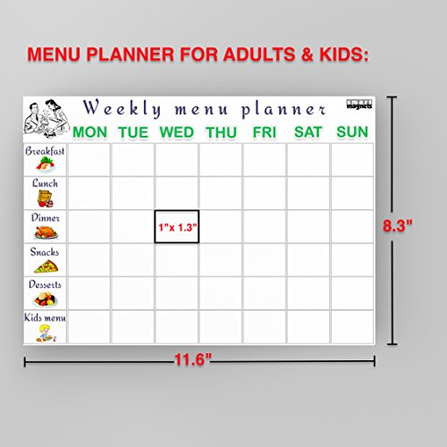 Best Dry Erase Weekly Planner Whiteboard Calendar 2018 Set Meal