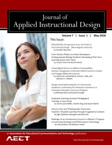 Journal Of Applied Instructional Design Volume 7 Issue 1 May 2018