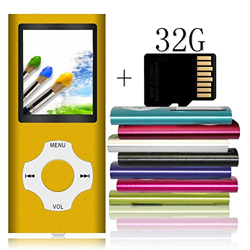 Tomameri Portable MP4 / MP3 Player with a 32 GB Micro SD ...
