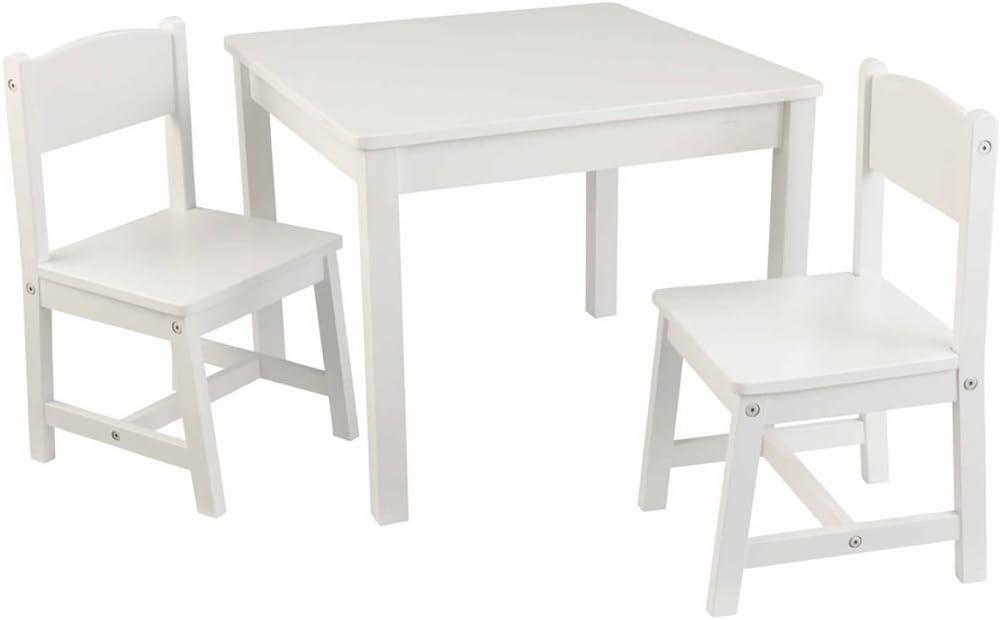 SSITG Mesa Infantil con 2 sillas Lätt Niños Muebles Blanco Madera ...