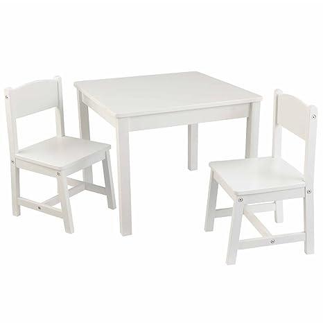 SSITG Mesa Infantil con 2 sillas Lätt Niños Muebles Blanco ...