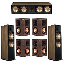 Klipsch 7.0 Walnut System with 2 RF-7 III Floorstanding Speakers, 1 RC-64 III Center Speaker, 4 Klipsch RP-250S Surround Speakers
