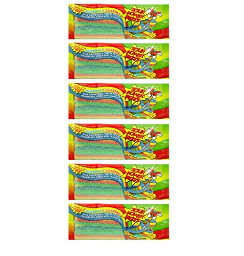 Sour Power Belts, From Dorval Quattro Falvored Belts Candy (Quattro, 6-Pack)