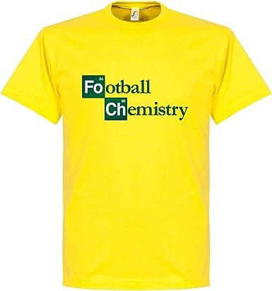 Fútbol Camiseta De Química, color amarillo, hombre, blanco: Amazon.es: Deportes y aire libre