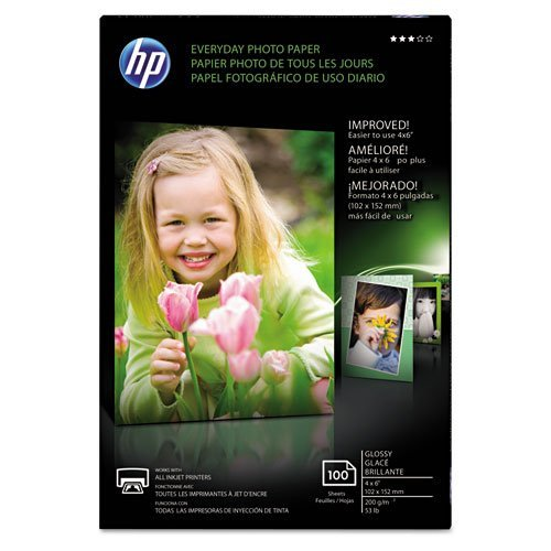 (HP CR759A HP Photo Paper, 4-Inch x6-Inch, 100Sht/PK, Glossy/White)