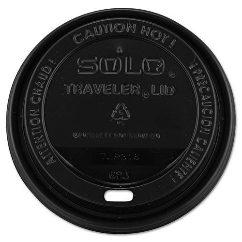 Solo Cup Company Traveler Drink Thru Lids  10 24Oz Cups  Black  100 Sleeve  10 Sleeves Carton